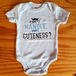 "Baby ""Can U Handle This Cuteness"" Onesie 